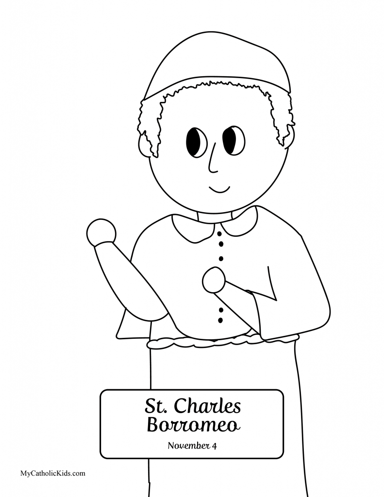 All Saints Day coloring sheet