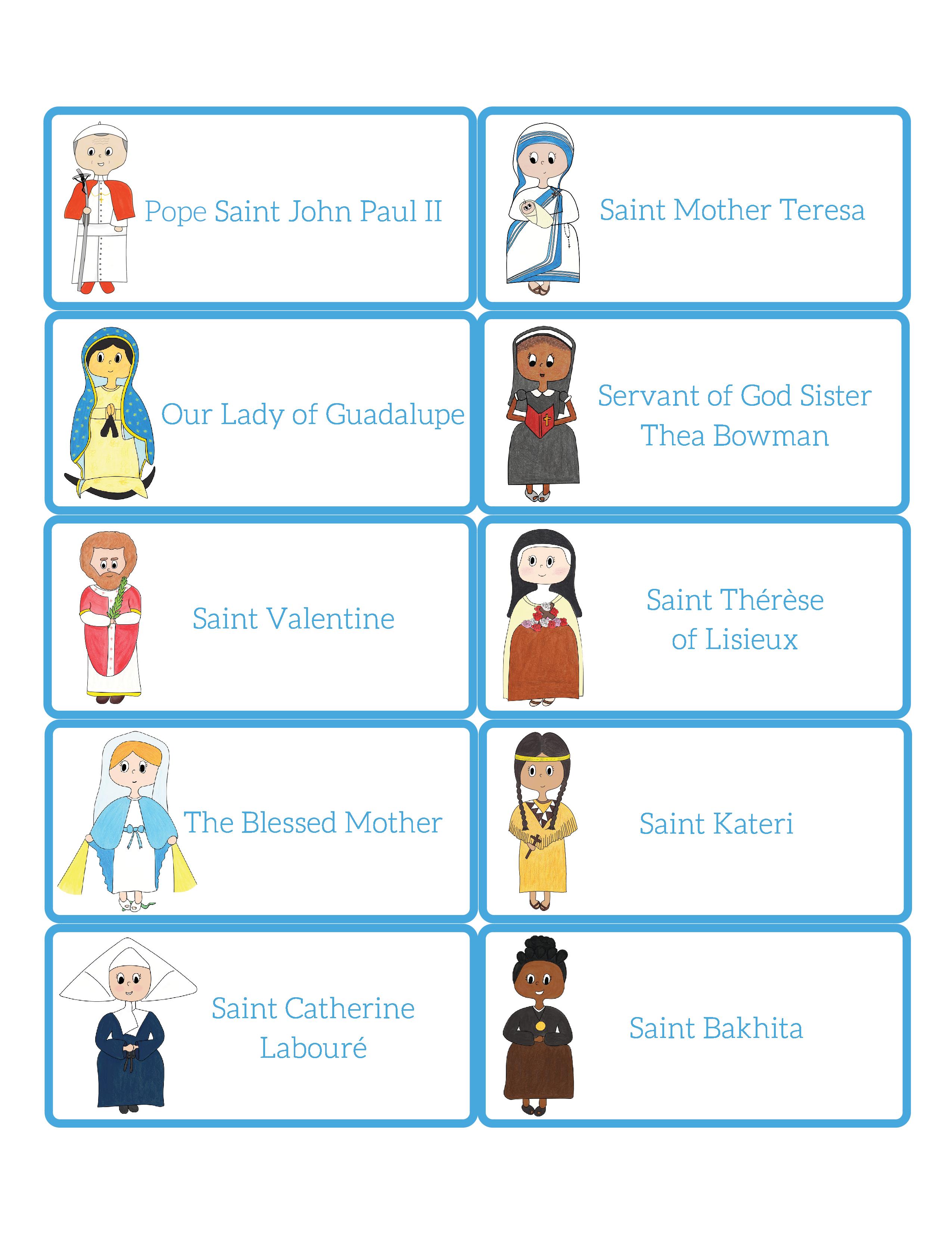 picture relating to Printable Bingo Calling Cards called Saint BINGO - My Catholic Small children