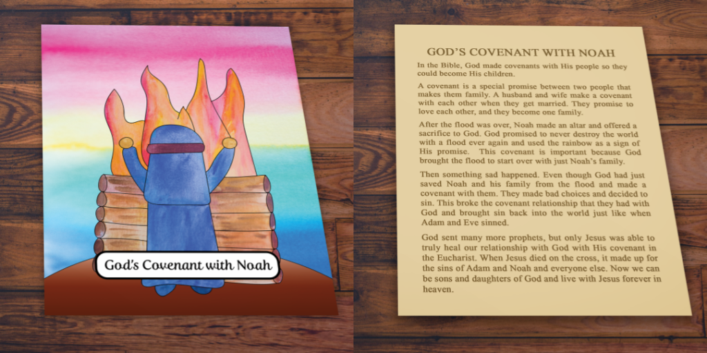 Noah Story Card front and back