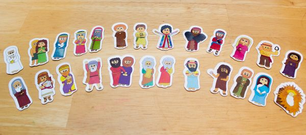 Bible Character Die Cut Stickers