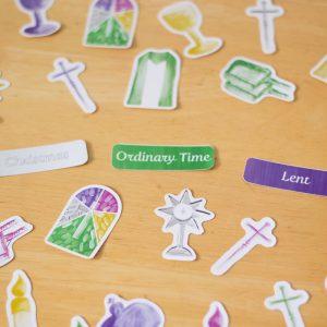 Unus Deus Stickers