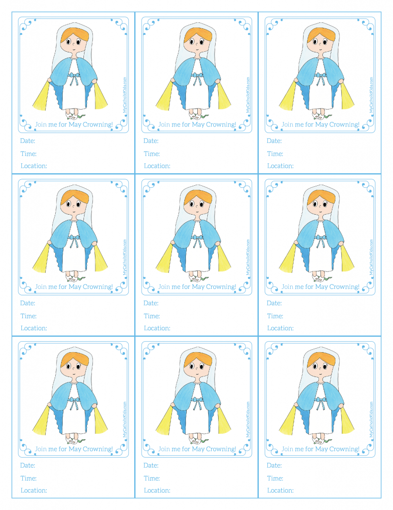 May Crowning Printable Blessed Mother