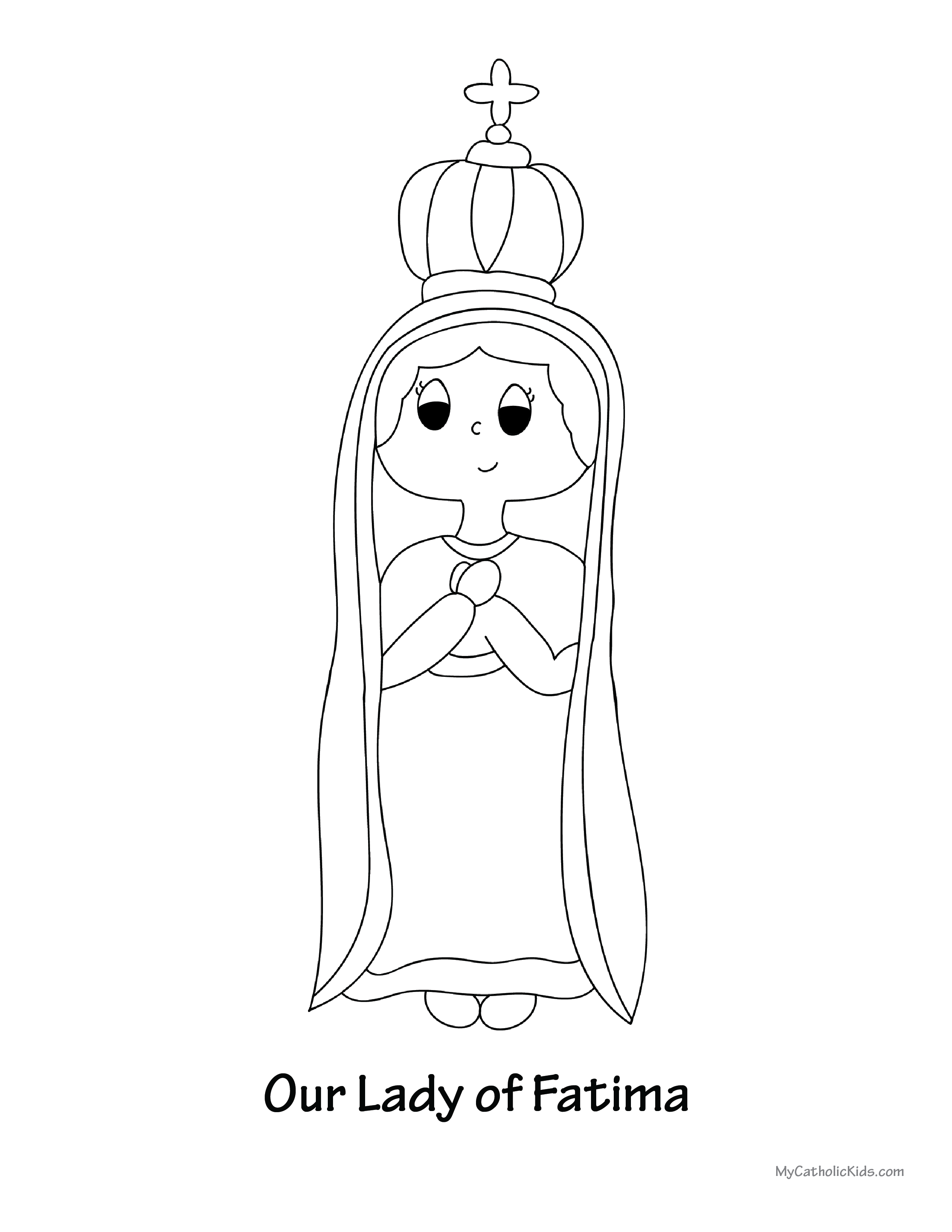 Our Lady of Fatima coloring sheet