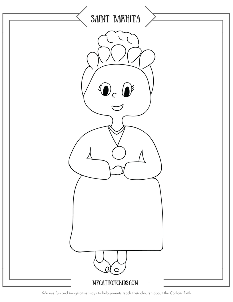 Saint Bakhita coloring sheet