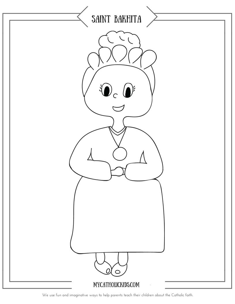 Saint Bakhita coloring sheet