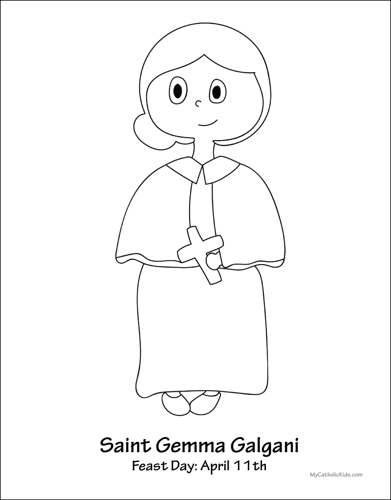 Saint Gemma Galgani coloring sheet