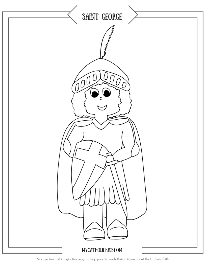 Saint George coloring sheet