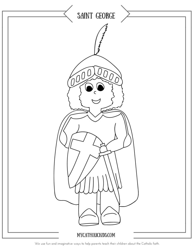 Saint George coloring sheet