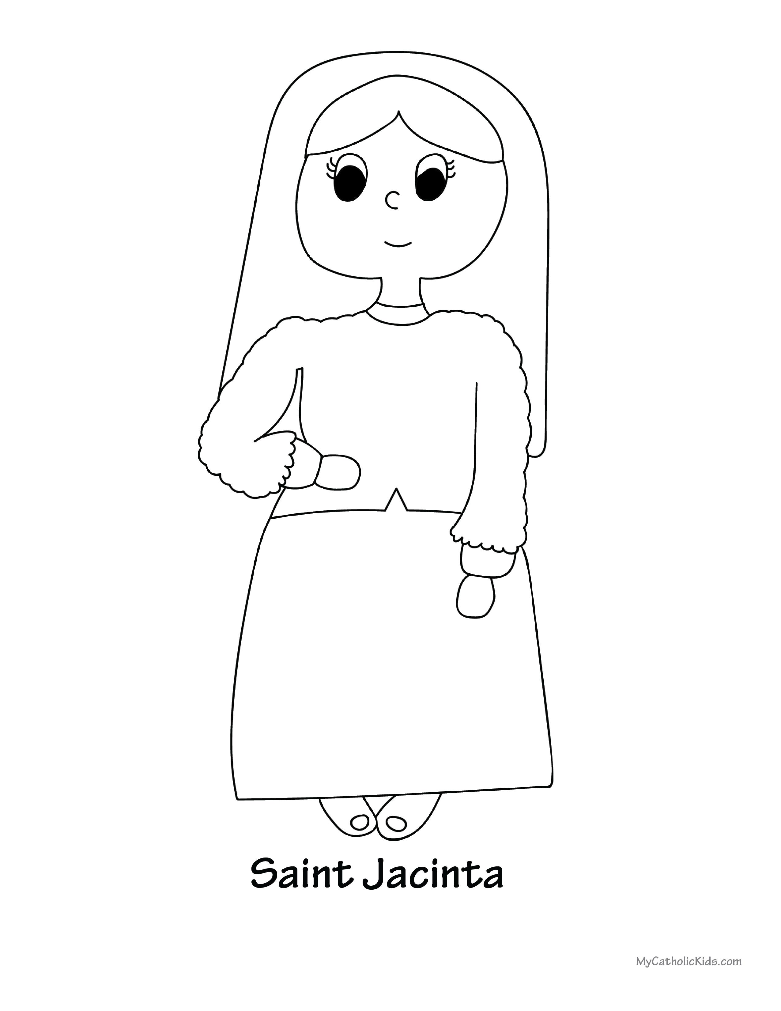 Saint Jacinta coloring sheet