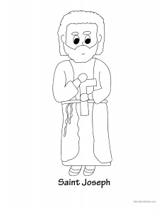 saint joseph coloring sheet
