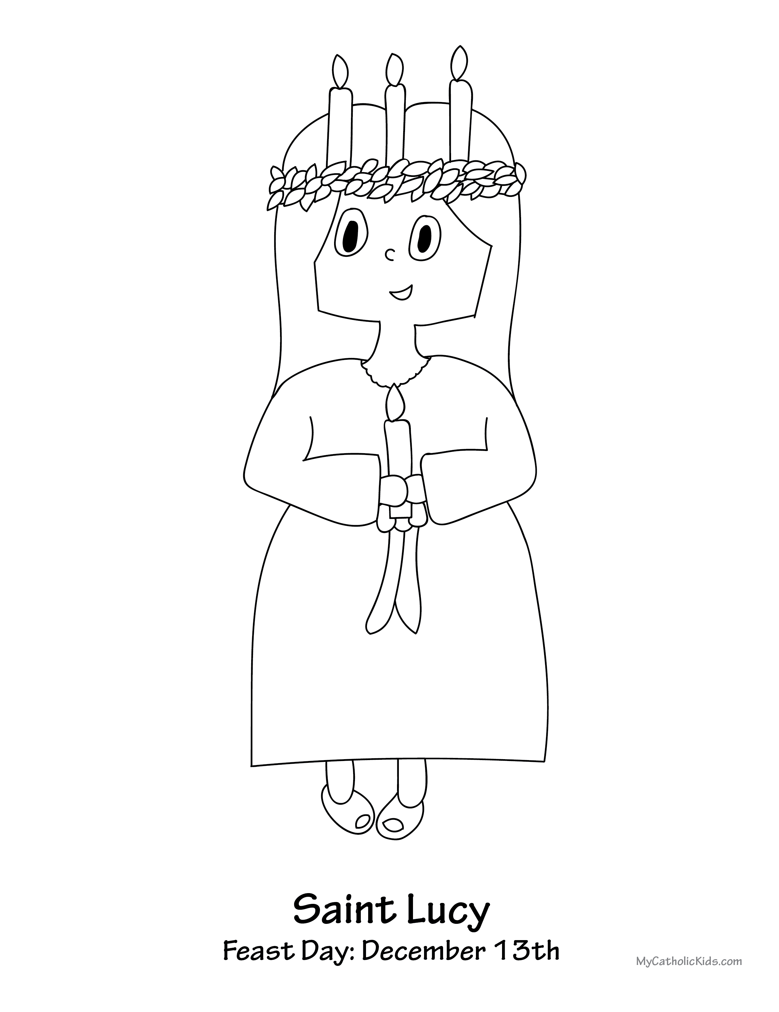 Saint Lucy coloring sheet