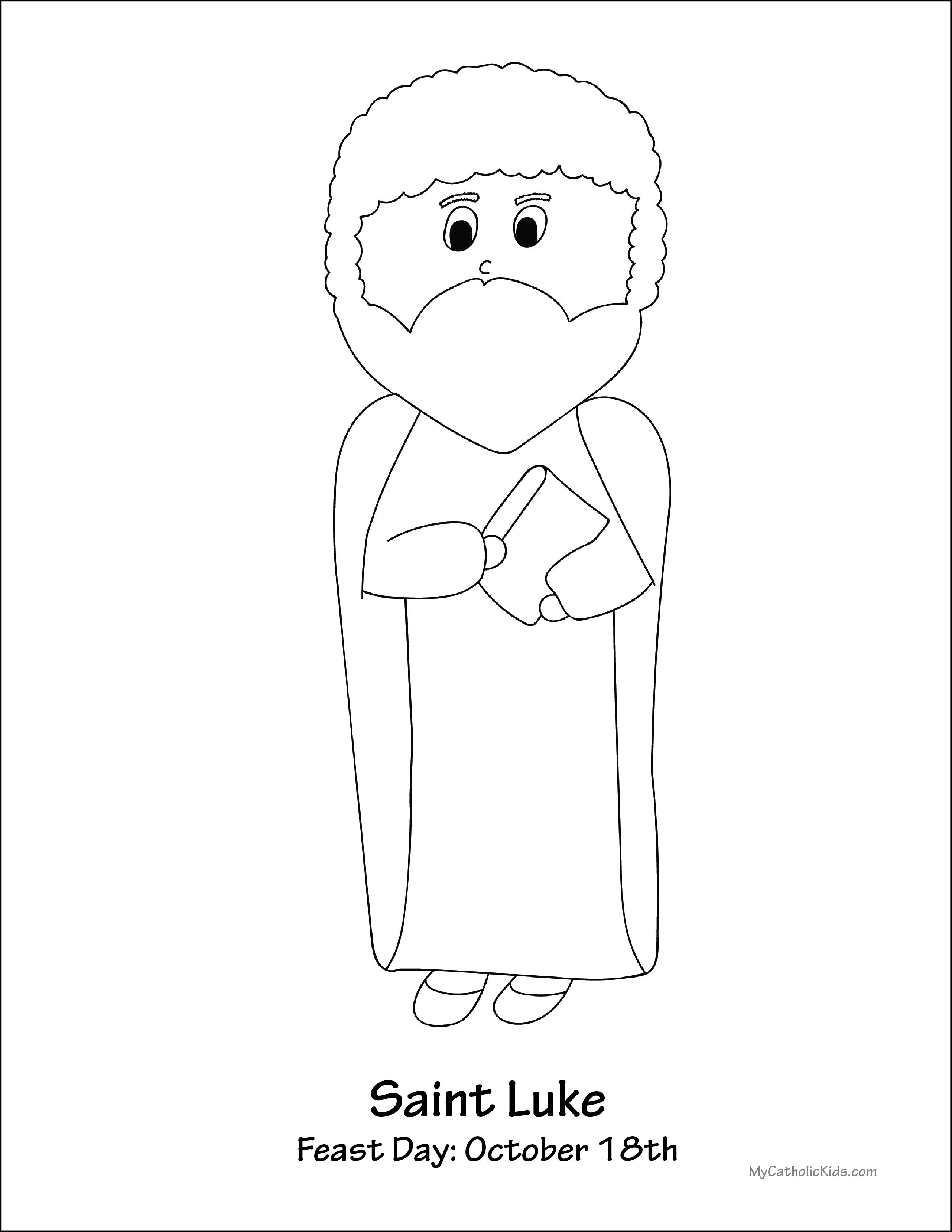Saint Luke coloring sheet