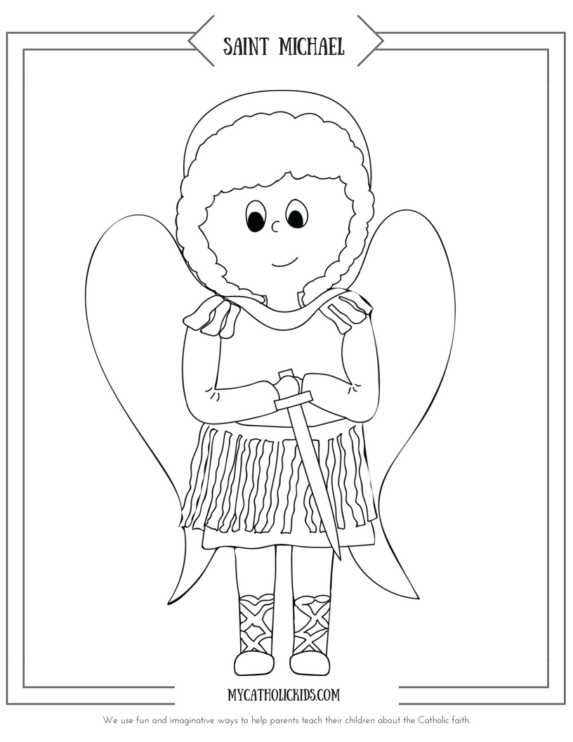 Saint Michael coloring sheet