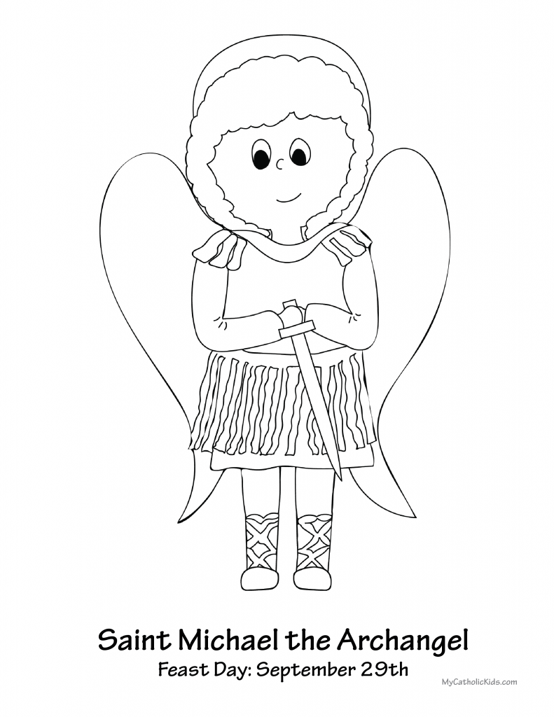 saint michael the archangel coloring sheet