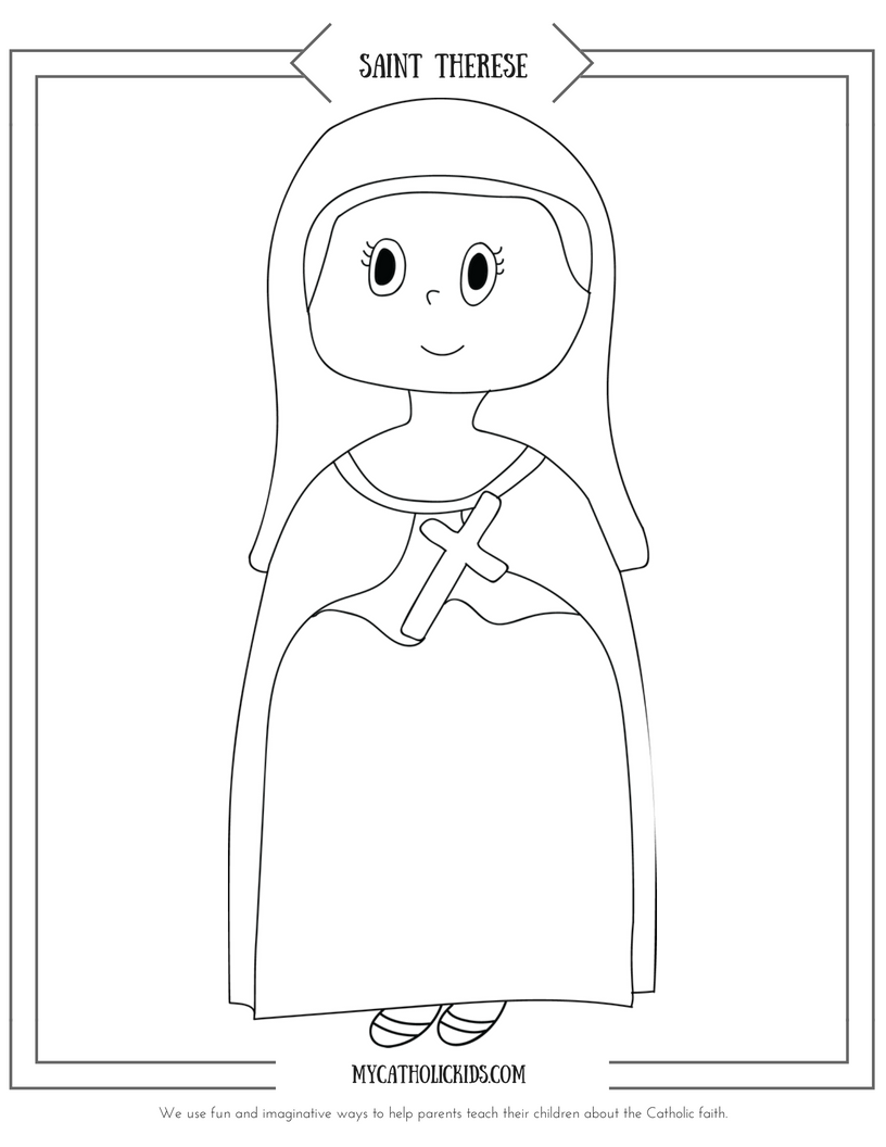 Saint Therese coloring sheet