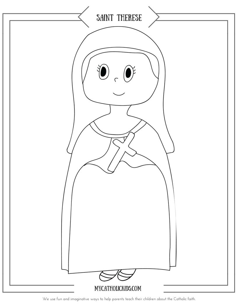 Saint Therese coloring sheet