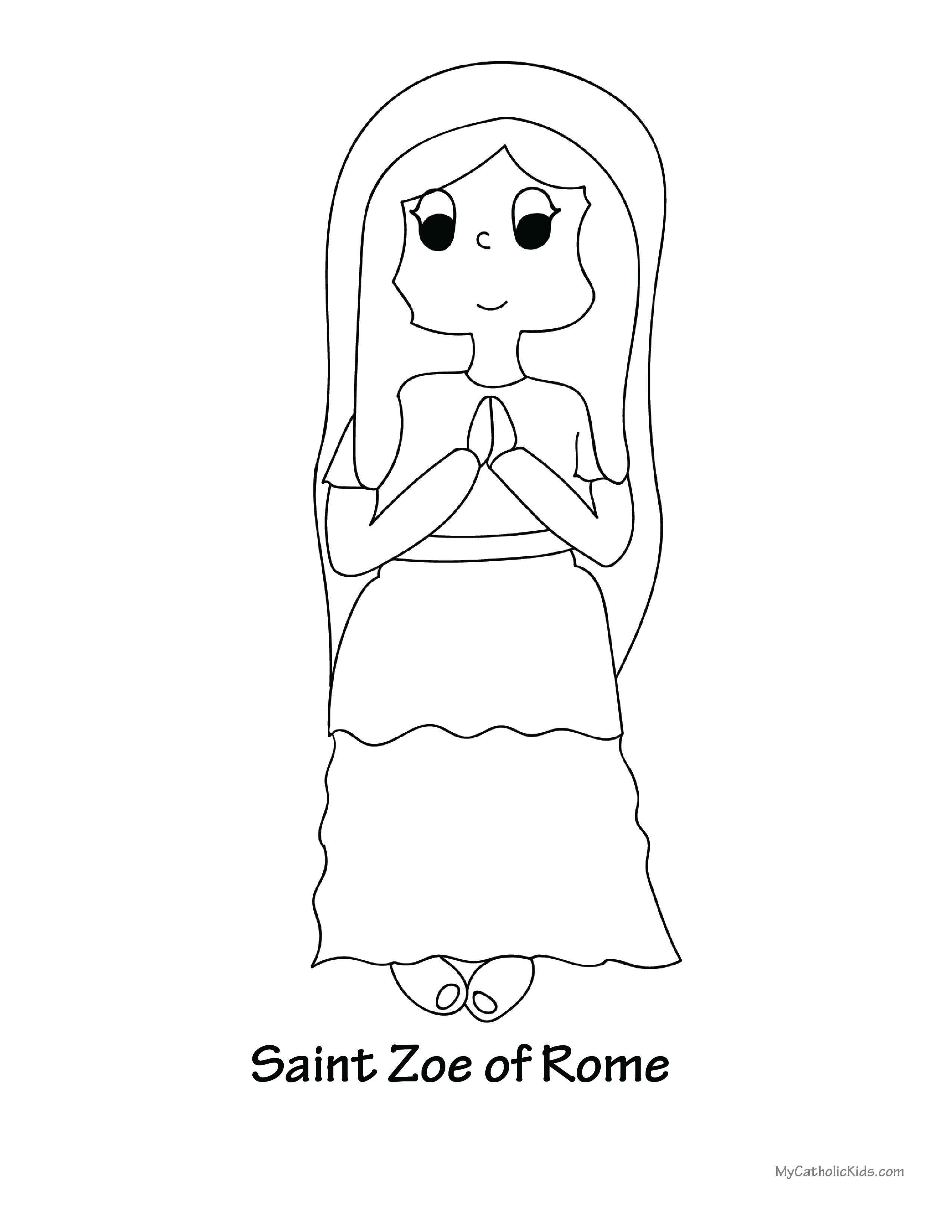 Saint Zoe coloring sheet