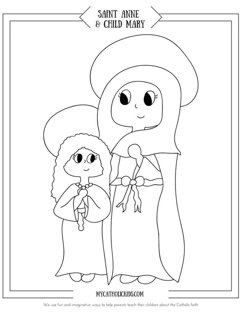 Saint Anne coloring sheet