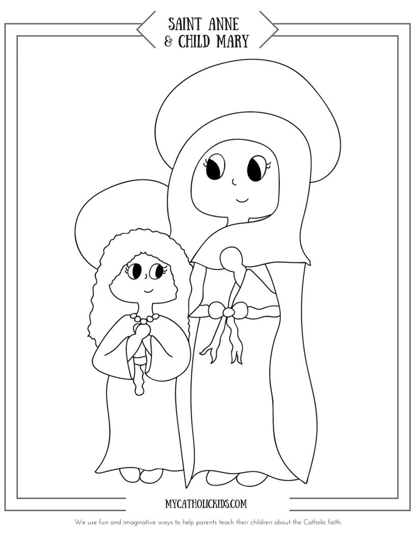 Saint Anne coloring sheet