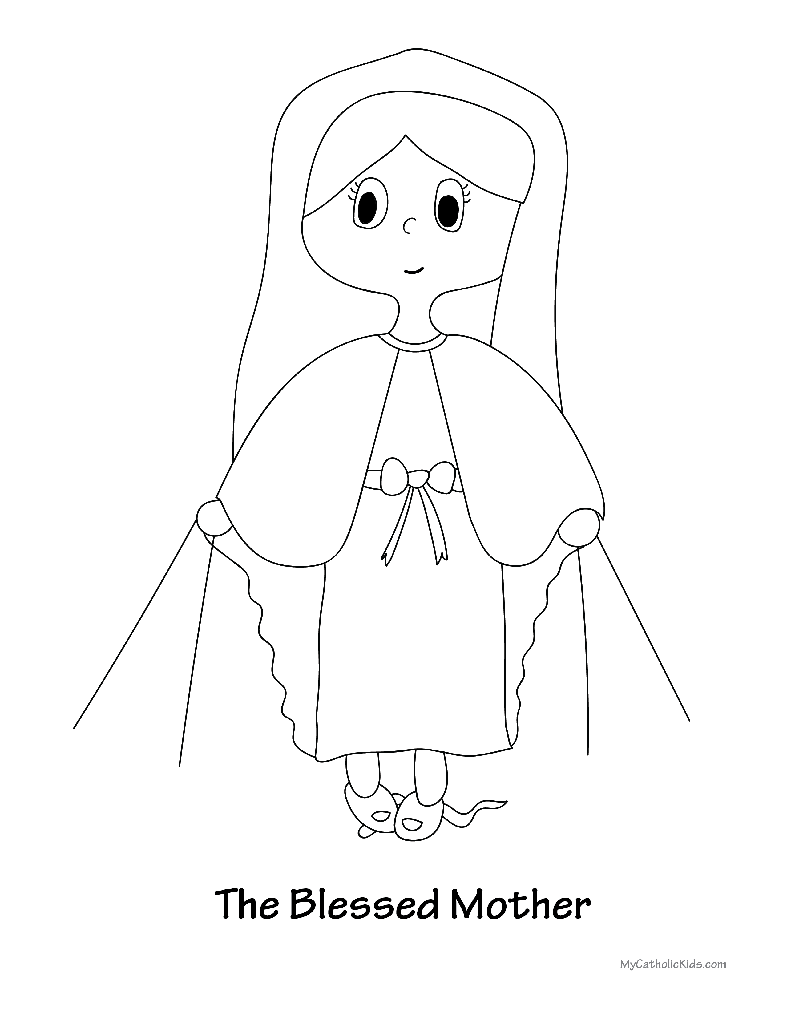 Blessed Mother coloring sheet