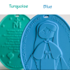 Children's Miraculous Medal - Turquoise and Blue