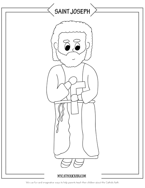 St. Joseph coloring sheet