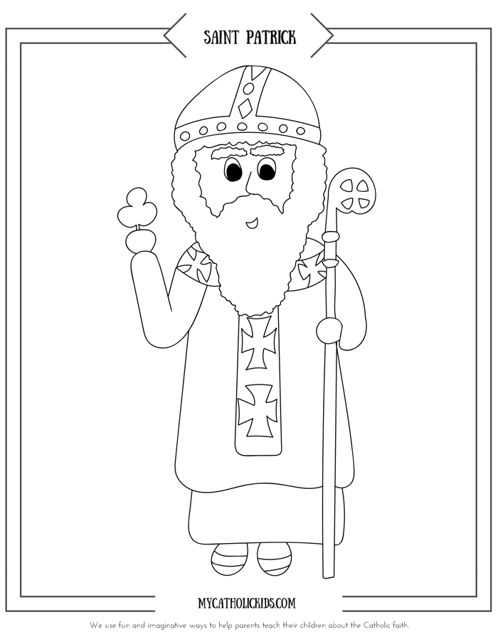 St. Patrick coloring sheet