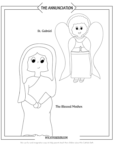 The Annunciation coloring sheet